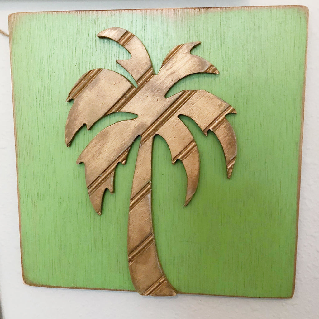 Wooden Palm Wall Decor