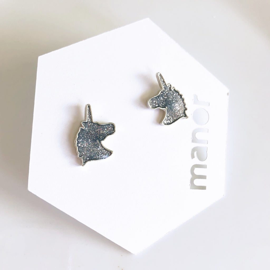 Unicorn sparkle studs