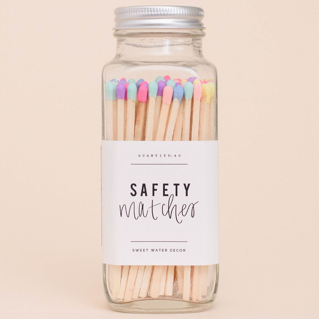 Rainbow Safety Matches - Glass Jar