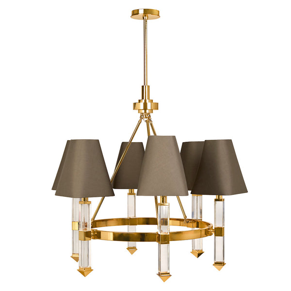 Jacques Six-Arm Chandelier by Jonathan Adler