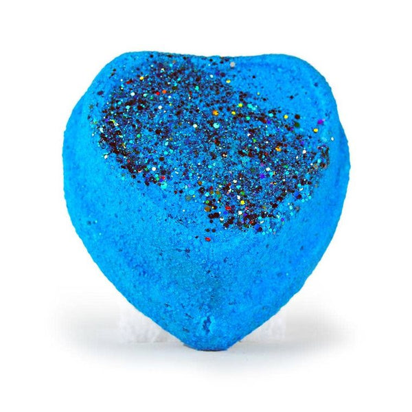 Surprise LED Light up Bath Bomb - Light Up Glitter Heart (Blue)