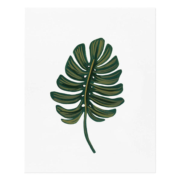 Monstera Leaf Art Print - Studio Model