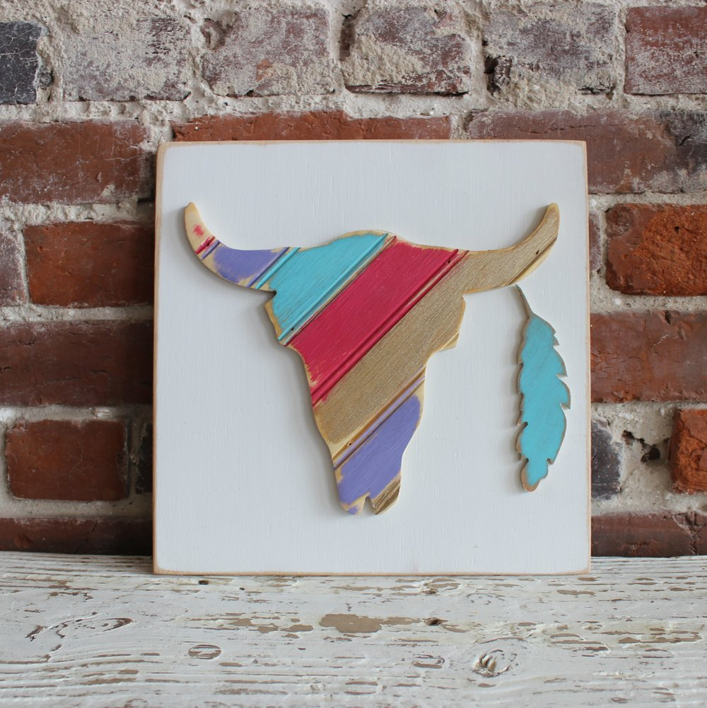 Multi-striped Steer Wall Art