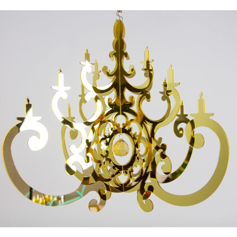 Limited Edition Luxe Gold Fancy Chandelier