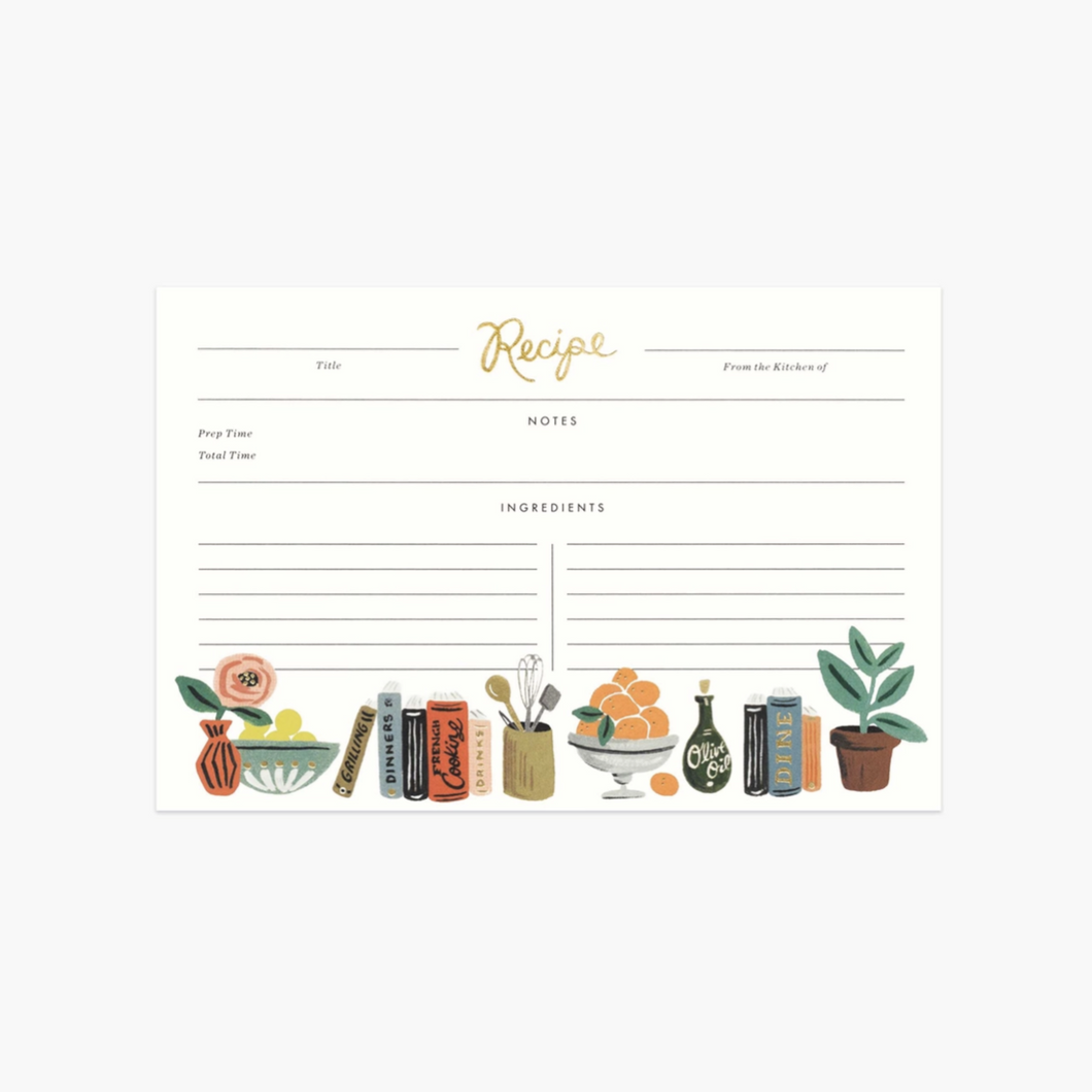 Kitchen Recipe Cards