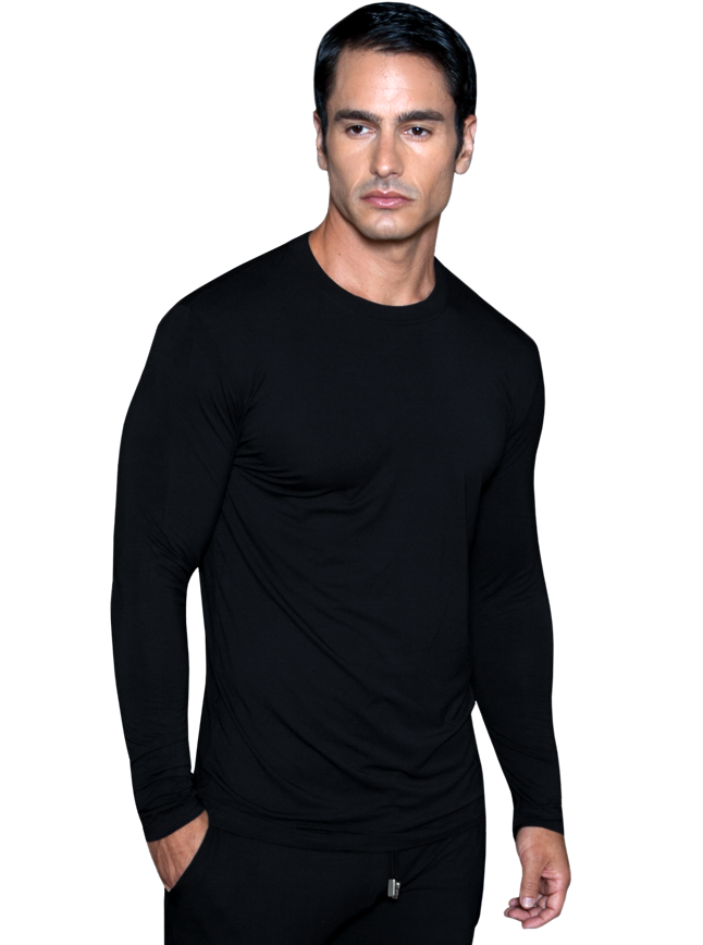 Mens Long Sleeve Crew Neck