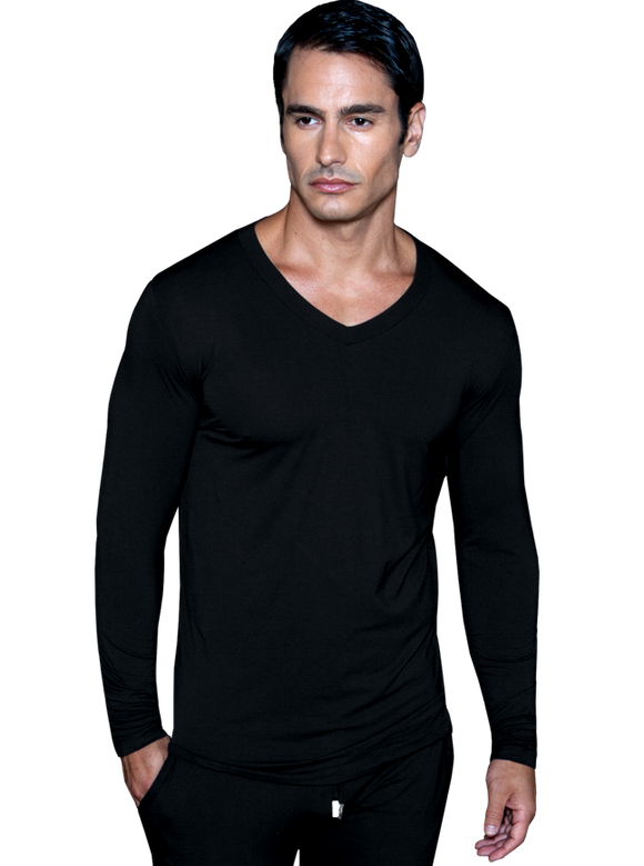 Mens Long Sleeve V Neck - Sole-one Apparel