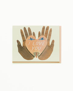 Heart in Hands I Love You Card