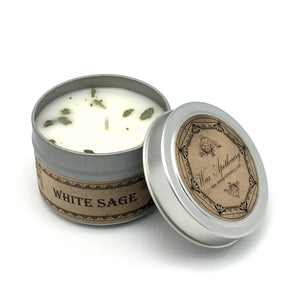 Wax Apothecary - White Sage Botanical Travel Tin Candle 4oz