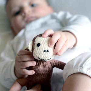 Organic Monkey Rattle Baby Toy
