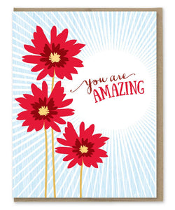 Amazing Red Flowers Card