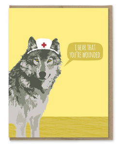 Wounded Wolf Get Well Card