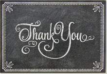 Load image into Gallery viewer, Chalkboard Thank You Notes Set