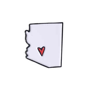 Arizona State with Red Heart Enamel Pin