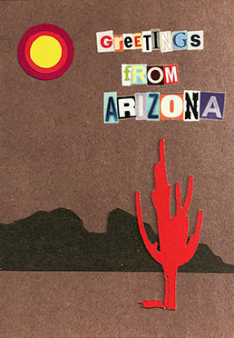 Greetings from Arizona cut letters card