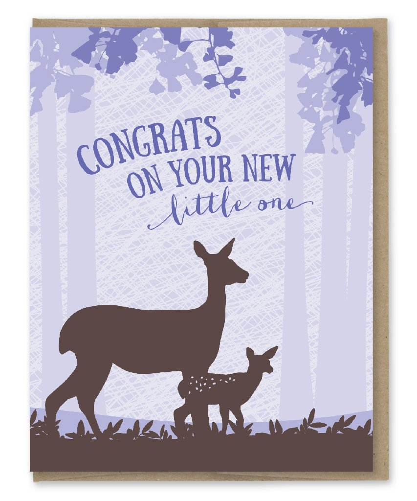 Congrats on Your New Little One Deer Baby Card