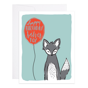 Silver Fox Birthday Card