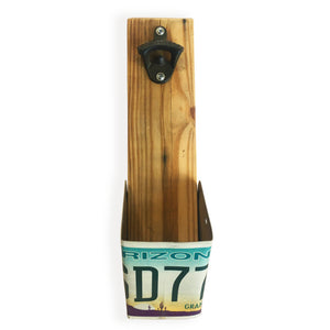 Arizona License Plate Wall Bottle Opener