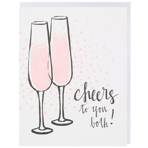Cheers to You Both Wedding Card