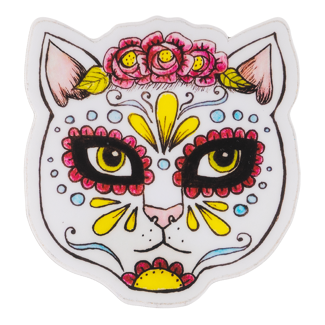 Kitty With Painted Face Sticker