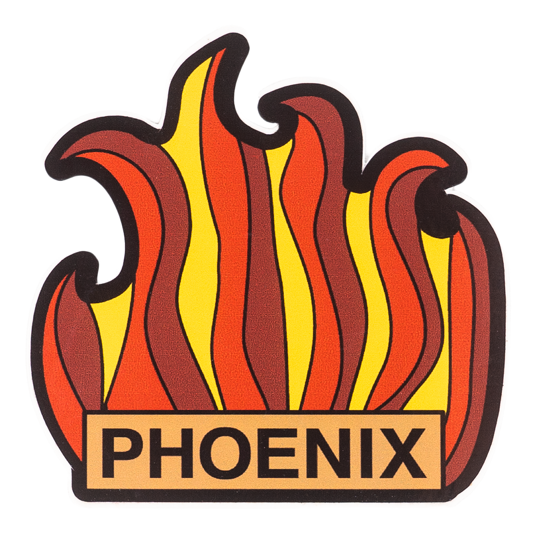 Abstract Phoenix Flames Sticker