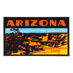 Retro Arizona Grand Canyon State Sticker