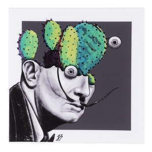Salvador Dali Cactus Head Sticker