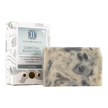 Load image into Gallery viewer, Handmade Cold Press Soap Charcoal Eucalyptus Scent