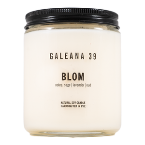 Handcrafted Soy Candle Blom Scent