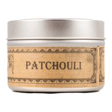 Load image into Gallery viewer, Handmade Coconut Wax Candle Tin Patchouli