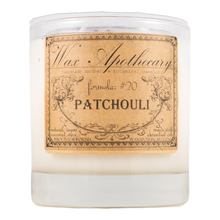 Load image into Gallery viewer, Handmade Coconut Wax Candle in Old Fashioned Glass Patchouli