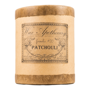 Handmade Coconut Wax Candle in Old Fashioned Glass Patchouli