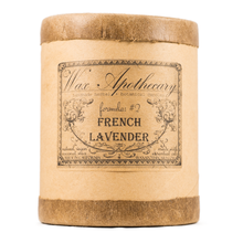 Load image into Gallery viewer, Handmade Coconut Wax Candle in Old Fashioned Glass French Lavender
