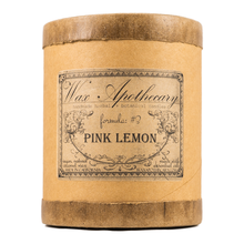 Load image into Gallery viewer, Handmade Coconut Wax Candle in Old Fashioned Glass Pink Lemon
