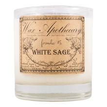 Load image into Gallery viewer, Handmade Coconut Wax Candle in Old Fashioned Glass White Sage