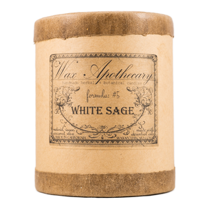 Handmade Coconut Wax Candle in Old Fashioned Glass White Sage