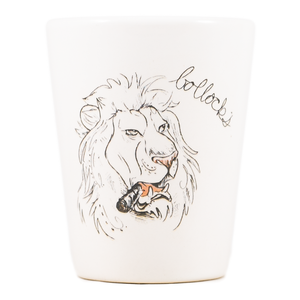 Bollocks Lion Dirty Dishes Shot Glass