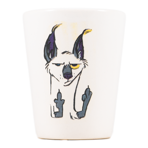 Double Middle Fingers Cat Dirty Dishes Shot Glass