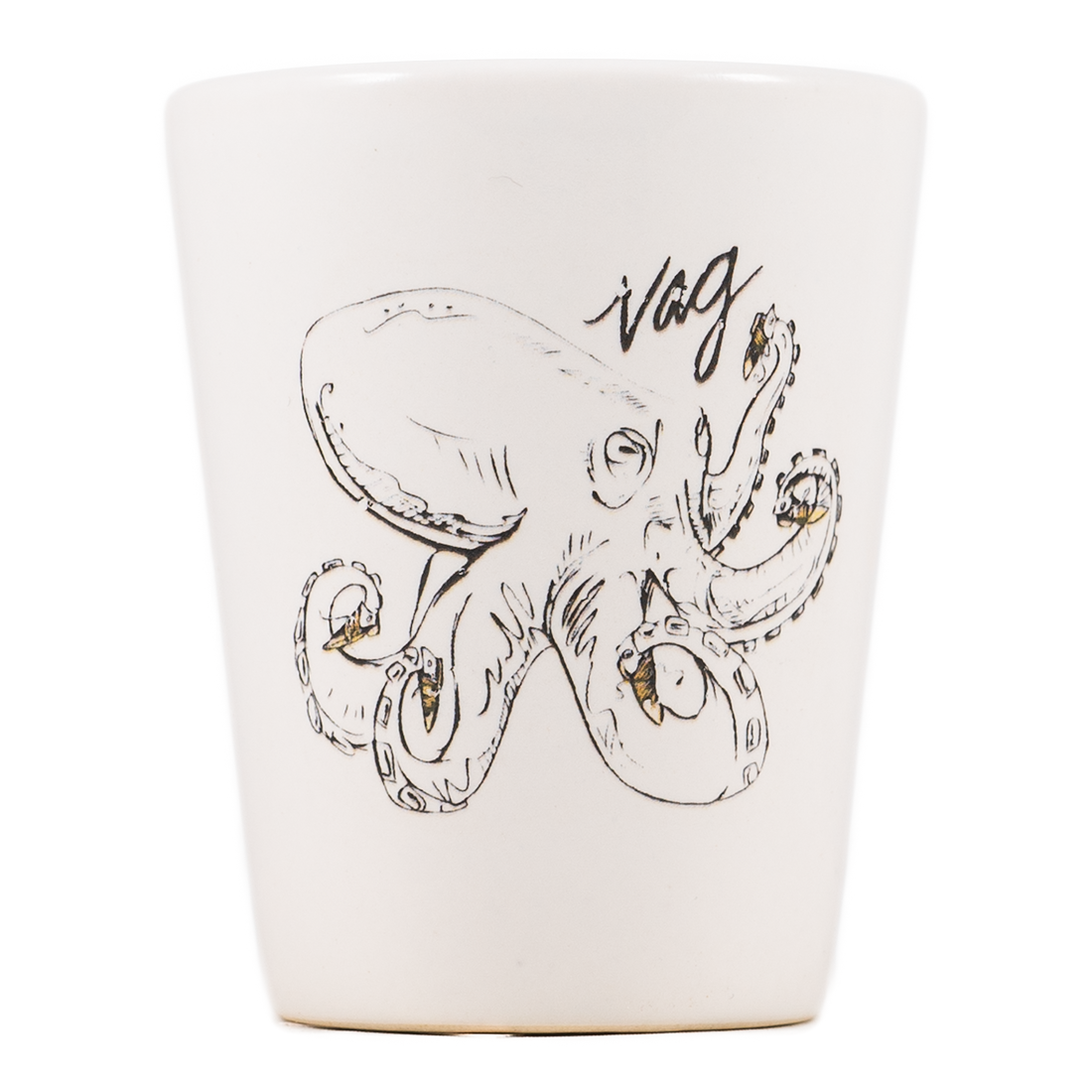 Vag Octopus Dirty Dishes Shot Glass