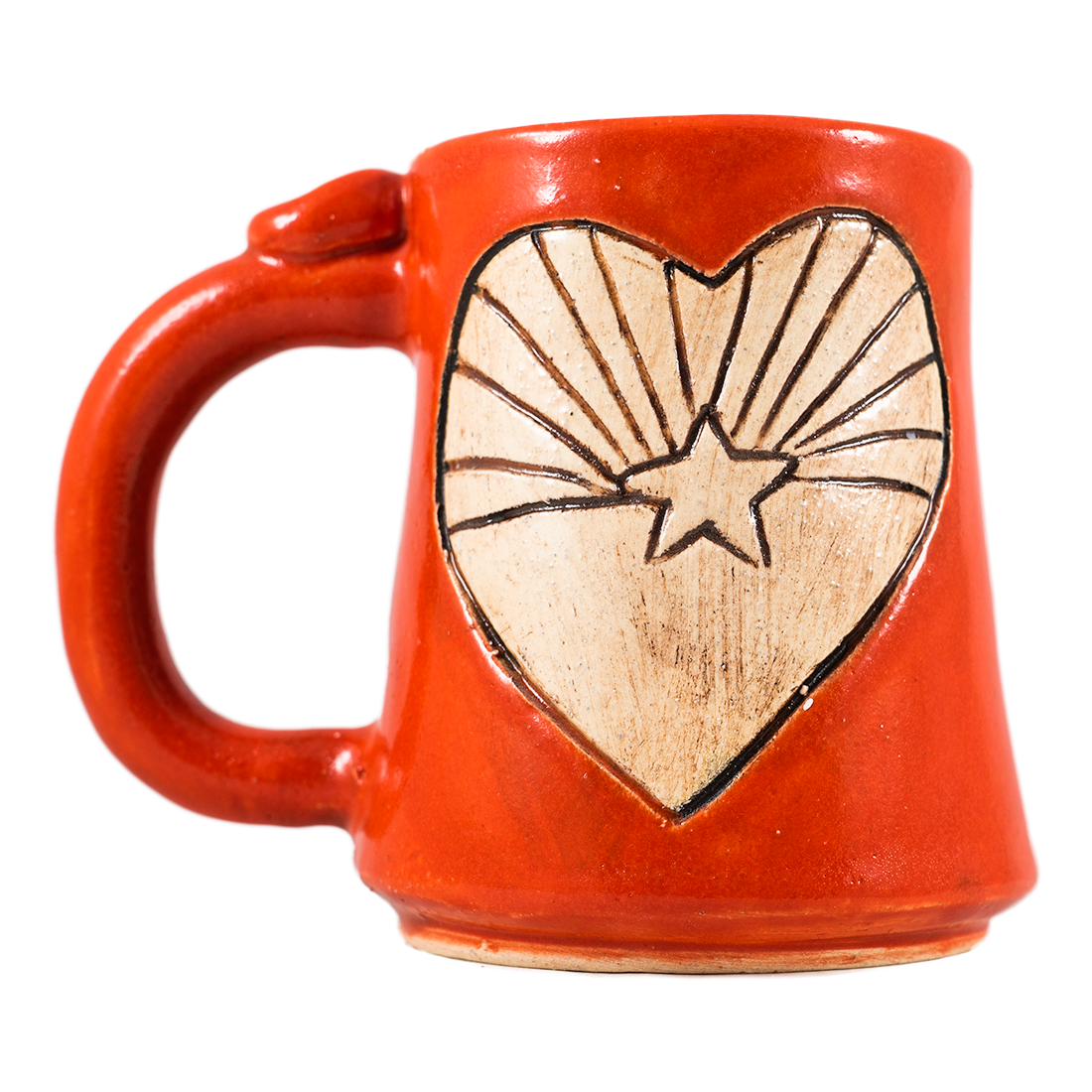 AZ State Flag in Heart Handmade Ceramic Mug