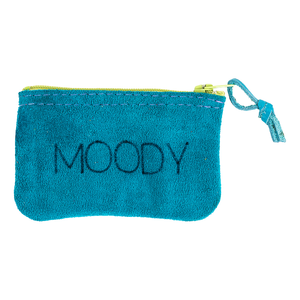 Moody Leather Zipper Pouch