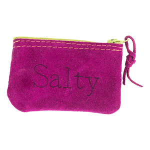 Salty Leather Zipper Pouch
