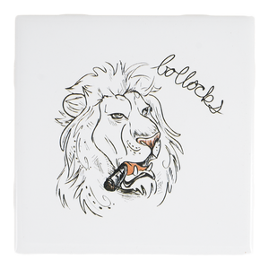 Bollocks Lion Dirty Dishes Coaster
