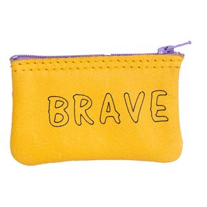Brave Leather Zipper Pouch
