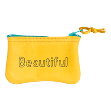 Load image into Gallery viewer, Beautiful Leather Zipper Pouch