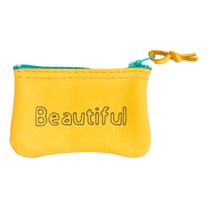 Beautiful Leather Zipper Pouch