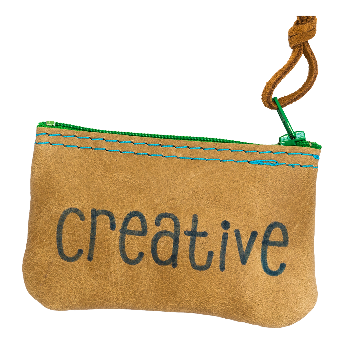 Creative Leather Zipper Pouch