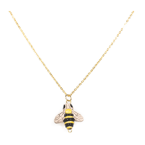 Bee charm handmade necklace