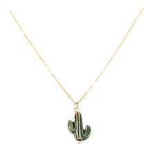 Load image into Gallery viewer, Saguaro charm handmade necklace