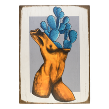 Load image into Gallery viewer, Cactus body wood painting